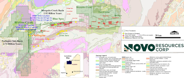 Novo Resources Aims for High-Grade Gold Trifecta