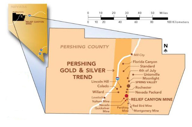 Drilling Advances Pershing Gold's Relief Canyon