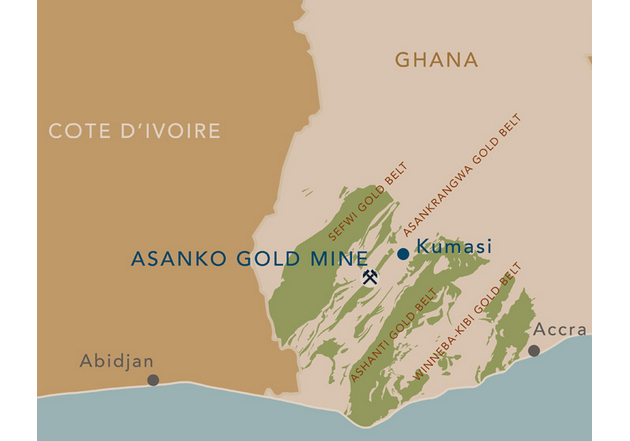 Asanko Gold project map