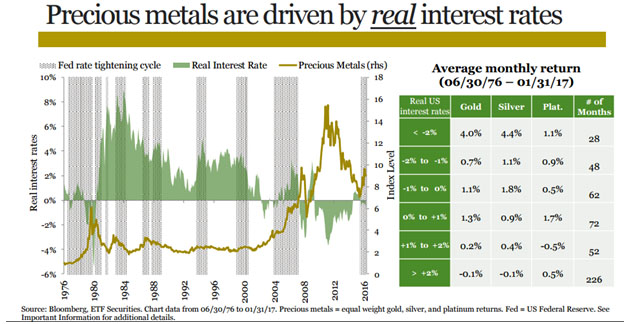 Precious Metals and Real Interest Rates