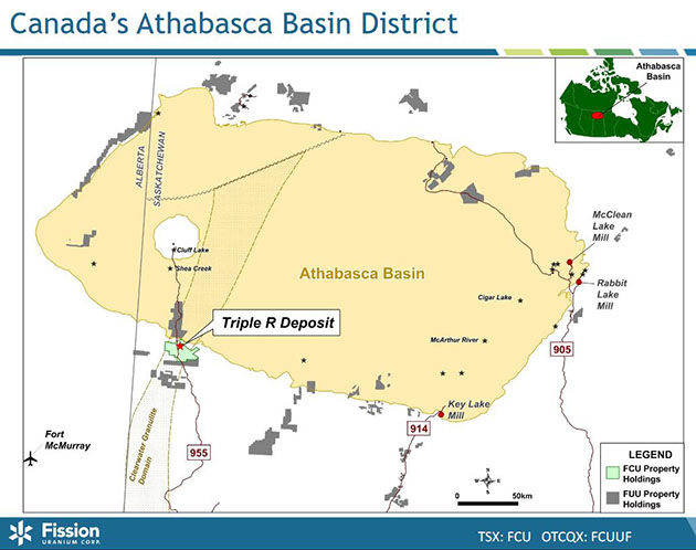 Athabasca Basin Map