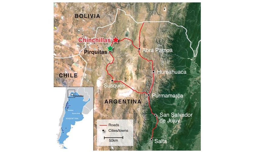 Chinchillas and Pirquitas map