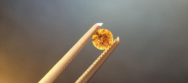 Orangey-yellow diamond