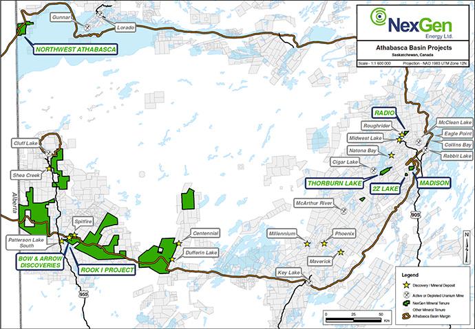 NexGen Athabasca Map