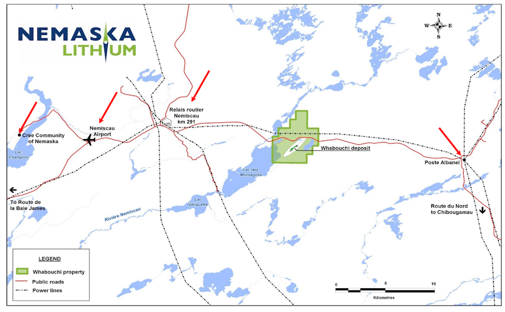 Nemaska Whabouchi Map
