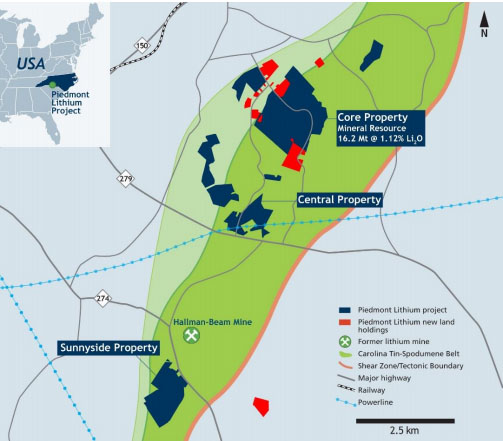 Lithium Company Expands Land Position in Carolina Tin Spodumene Belt
