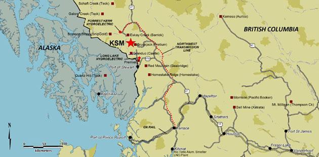 Seabridge KSM Location Map