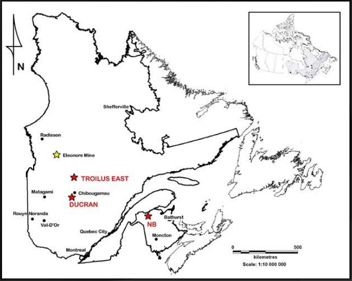 Explorer Identifies New Mineralized System Near Troilus East in Quebec