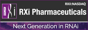 RXi Pharmaceuticals Next Generation in RNAi