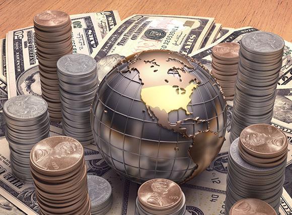 Globe and money