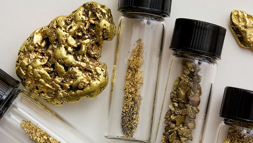 gold in vials gold nugget