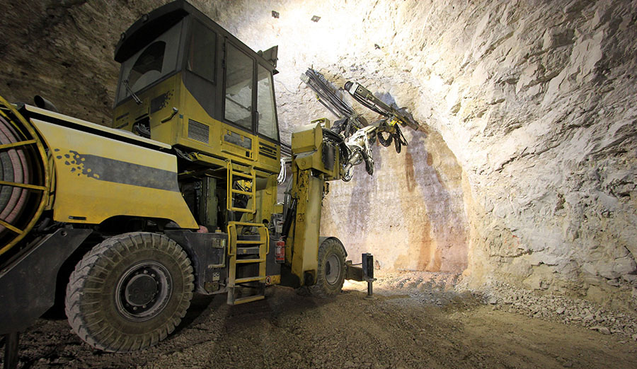 Underground mining stock photo