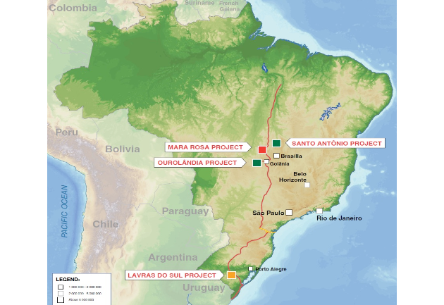Amarillo's projects in Brazil