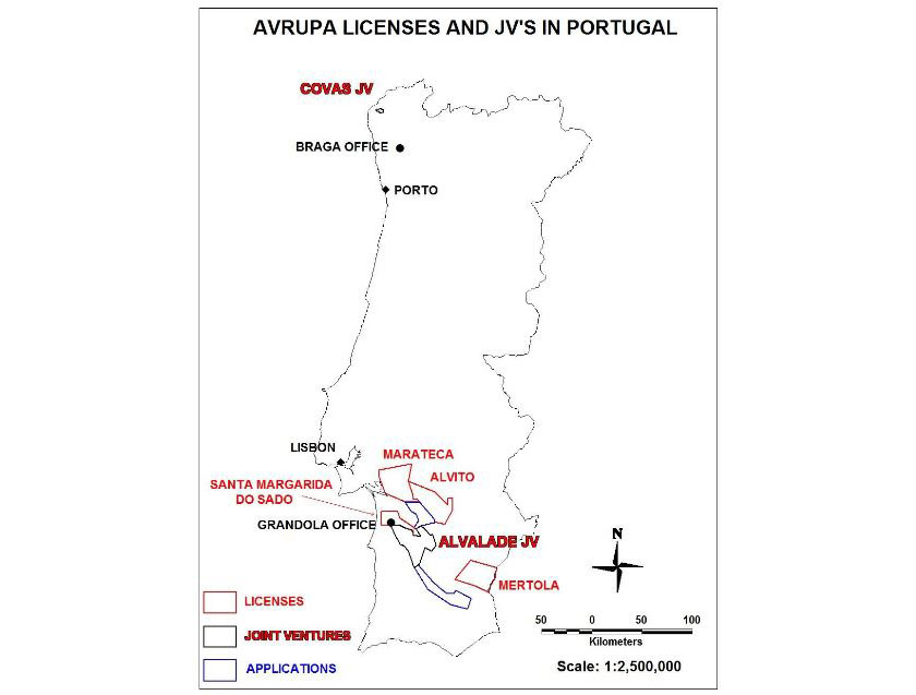 Avrupa Licences and JVs in Portugal