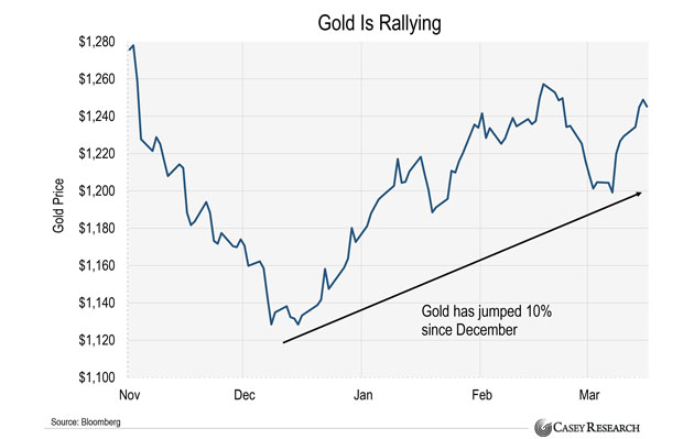 Gold is rallying