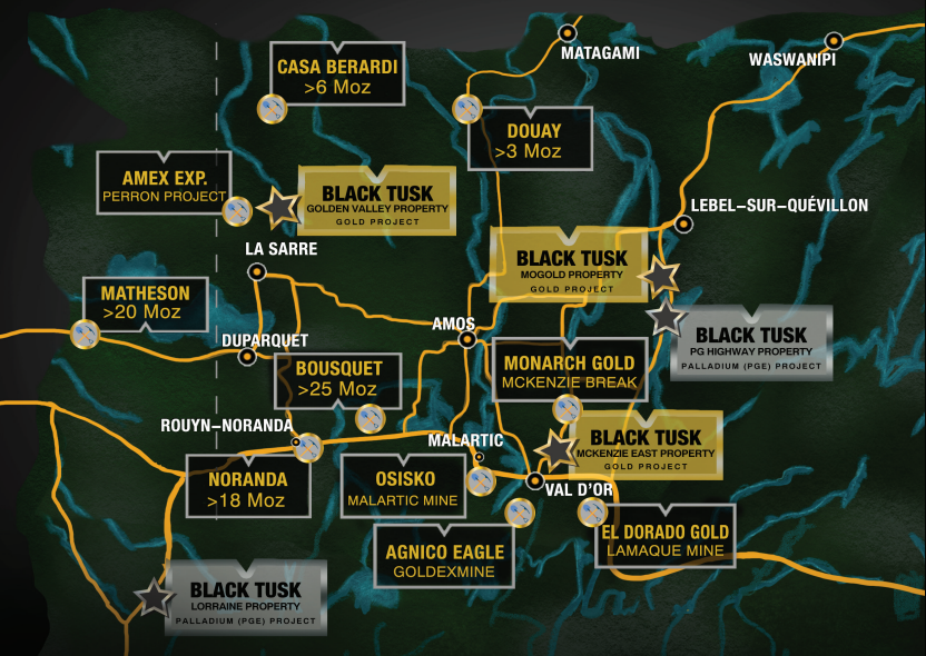 Black Tusk Area Map