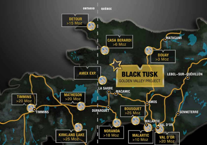 Black Tusk map