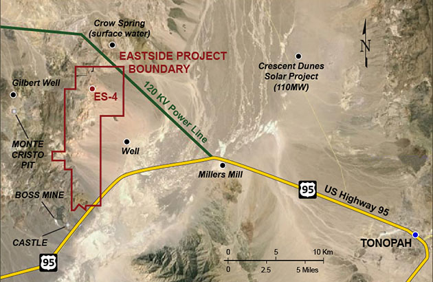 Eastside Project Map, Nevada