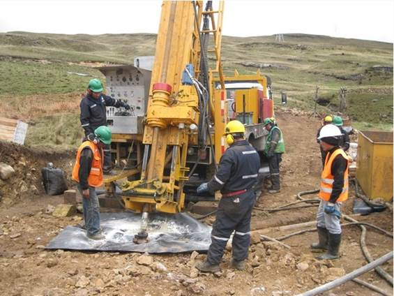 Ayawilca project; drilling location