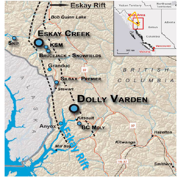 Dolly Varden Map