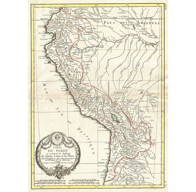 Ecuador 1775 map