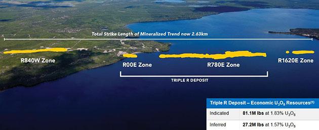 Triple R deposit and new zones