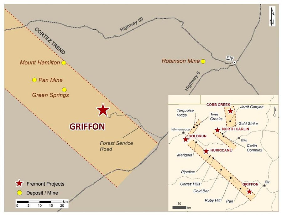 Fremont Gold Griffon Map