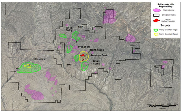 GFG 2017 Greenfield Exploration Targets, Rattlesnake Hills Gold Project