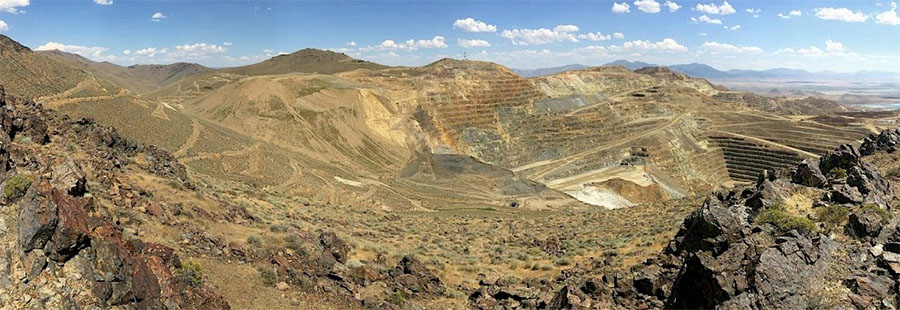 View of Newmont's Phoenix Mine from GSV's Virgin Fault mineral zone