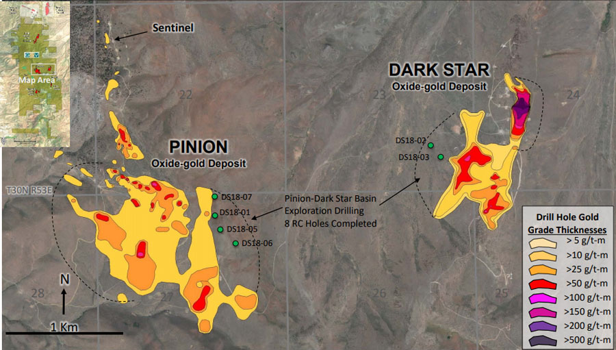 Gold Standard Ventures Dark Star and Pinon Project Map