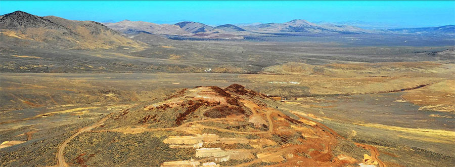North Dark Star Deposit with Newmont�s Emigrant Mine in the distance