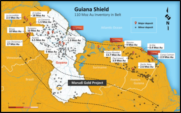 Guyana Shield Is Host to Multiple Gold Deposits