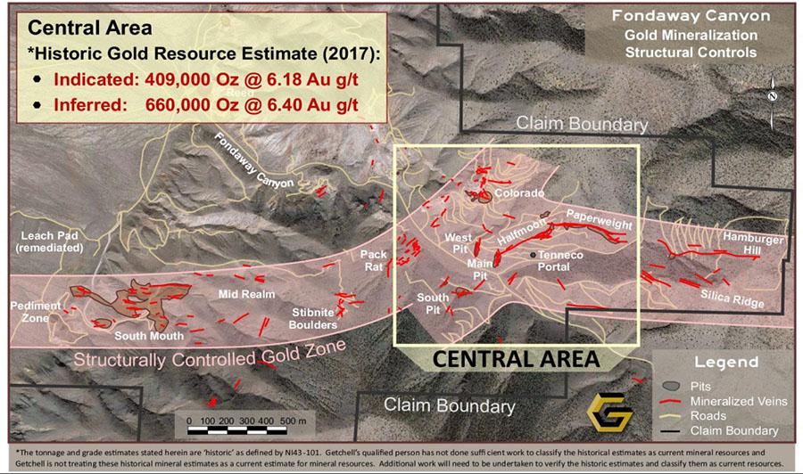 Getchell Fondaway Map