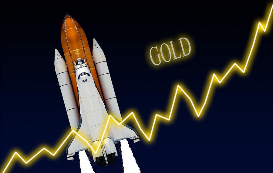Gold rocket