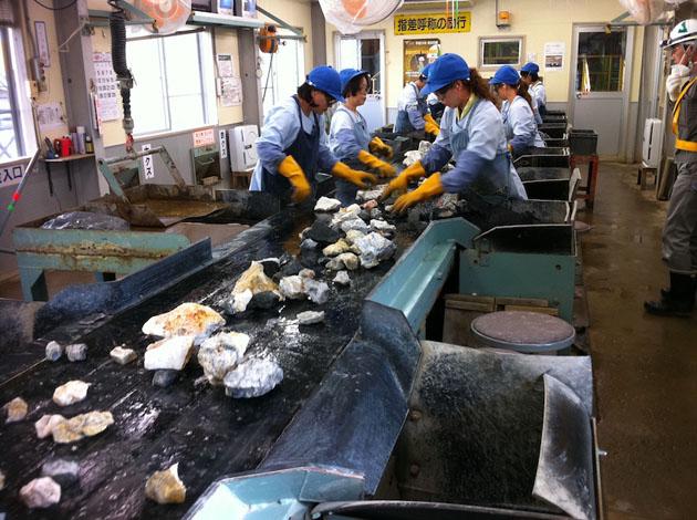 Hishikari sorting line