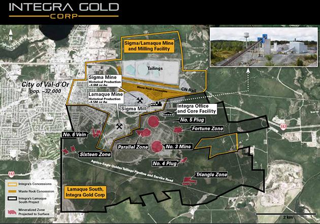 Sigma/Lamaque Map
