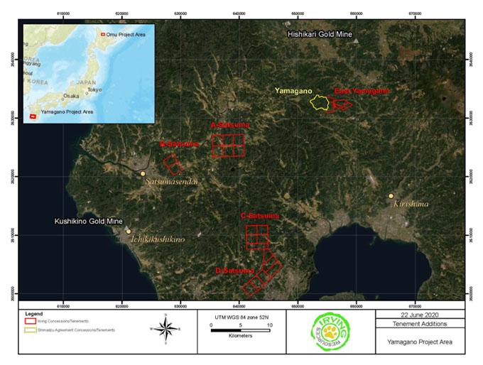 Irving Kyushu Map