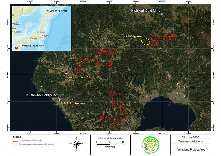 Irving Resources Kyushu Map