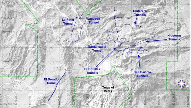 Vetas Map
