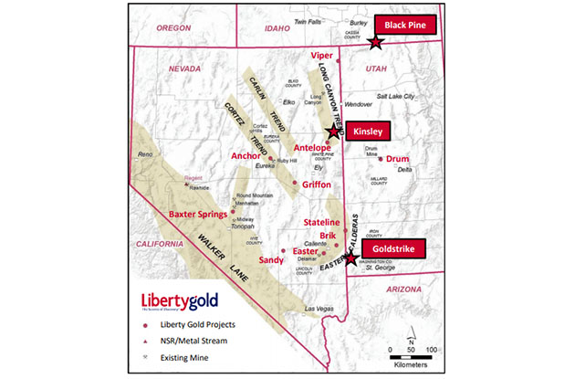 Liberty Gold Project Map