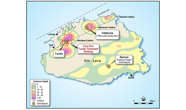 Lion One Tuvatu Project Map
