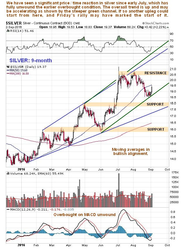 Silver Nine-Month Chart