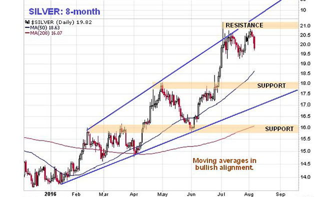 Silver 8-month chart