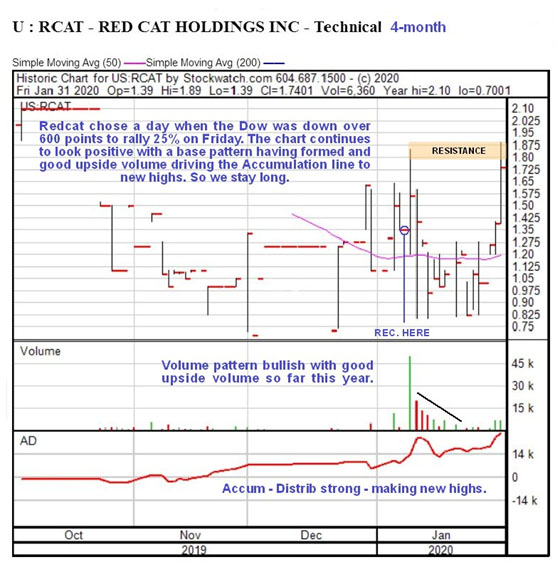 Red Cat technical chart