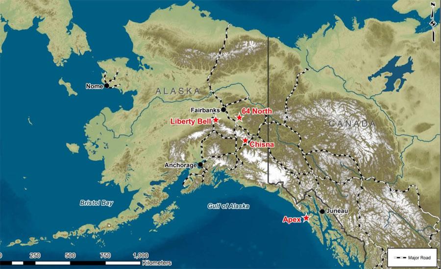 Millrock Alaska Map