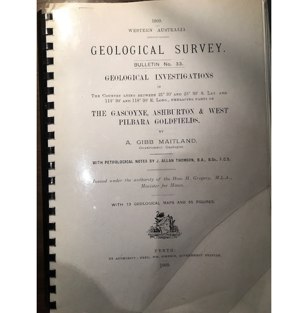 1909 Geological Survey Report