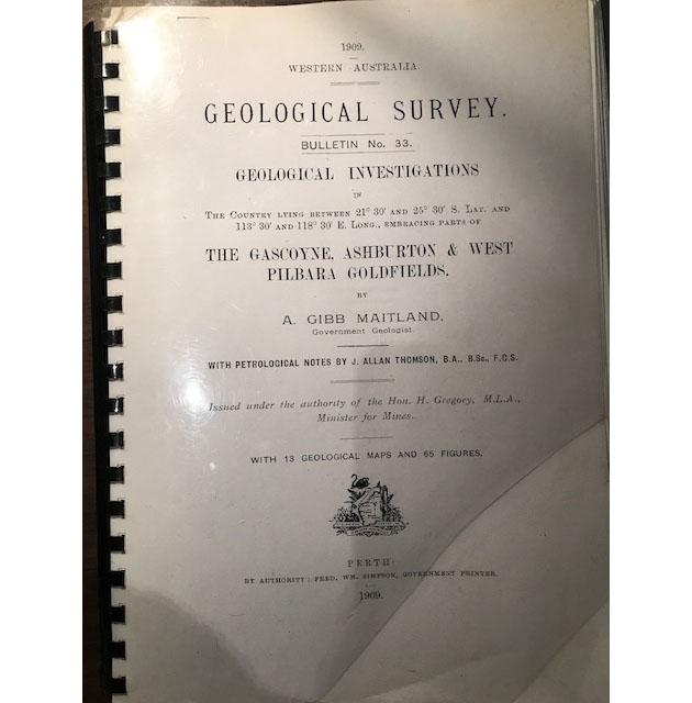 1909 Geological Survey Report
