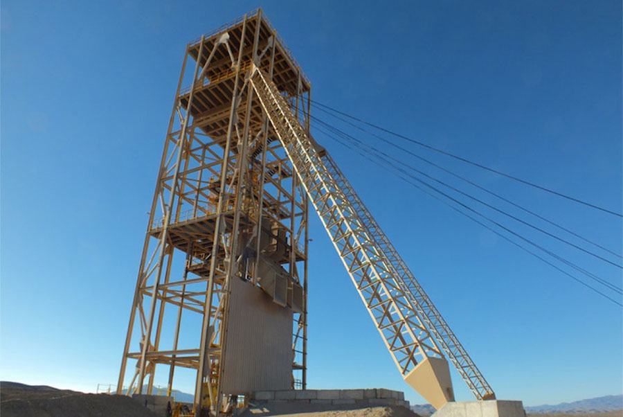 Nevada Copper headframe