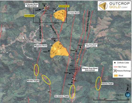 Outcrop Gold map