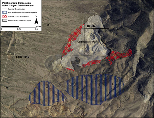 Pershing Gold Relief Canyon Gold Resource